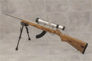 RUGER 10/22 Target Bull Barrel Stainless Rifle - $550